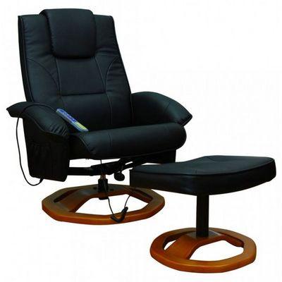 WHITE LABEL - Fauteuil de massage-WHITE LABEL-Fauteuil de massage noir