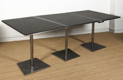 DIDIER MARFAING MOBILIER - Table de repas rectangulaire-DIDIER MARFAING MOBILIER-La Marie extensible