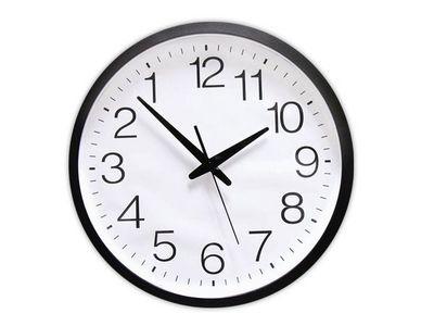 WHITE LABEL - Horloge murale-WHITE LABEL-L'horloge aux chiffres inversés deco maison desig