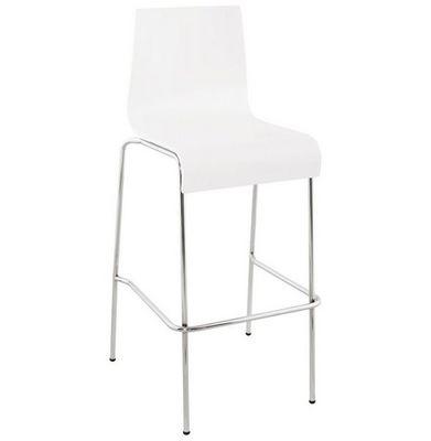 KOKOON DESIGN - Chaise haute de bar-KOKOON DESIGN-Tabouret de bar empilable Cobe Blanc