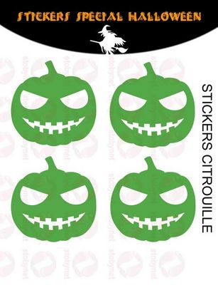 WHITE LABEL - Sticker-WHITE LABEL-Sticker Citrouilles