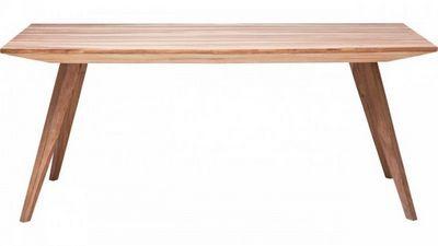 WHITE LABEL - Table de repas rectangulaire-WHITE LABEL-Table repas WILD en bois massif, 160 cm