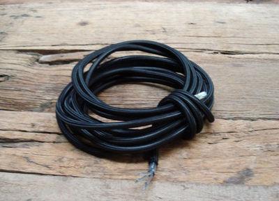 COMPAGNIE DES AMPOULES A FILAMENT - Cable électrique-COMPAGNIE DES AMPOULES A FILAMENT-Cable Textile Noir