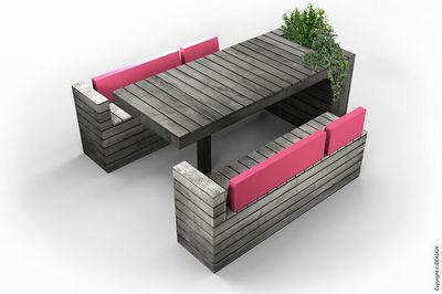 HURBZ - Table de jardin-HURBZ