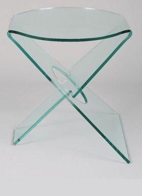 WHITE LABEL - Bout de canapé-WHITE LABEL-CELIA Bout de canapé en verre transparent