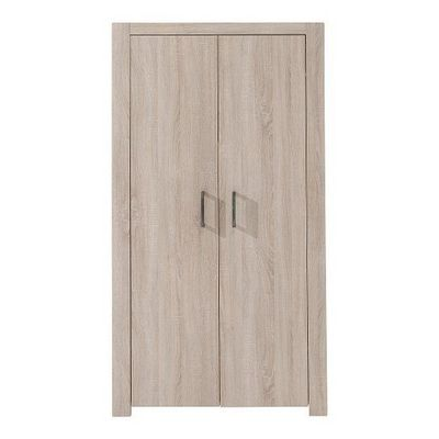 WHITE LABEL - Armoire � portes battantes-WHITE LABEL-Armoire penderie ALINE ch�ne 2 portes