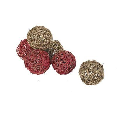 Aubry-Gaspard - Décoration de sapin de Noël-Aubry-Gaspard-Lot de 6 boules décoratives