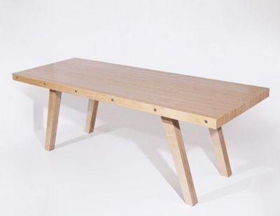 MALHERBE EDITION - Table de repas rectangulaire-MALHERBE EDITION-Table L63