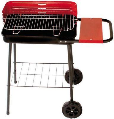 Dalper - Barbecue au charbon-Dalper-Barbecue sur roulettes avec tablette latérale