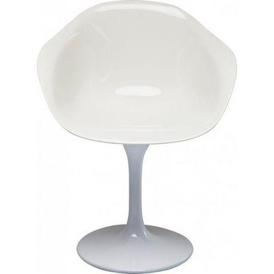 Kare Design - Chaise-Kare Design-Chaise avec accoudoirs Forum Trumpet blanche