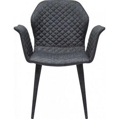 Kare Design - Chaise-Kare Design-Chaise avec accoudoirs Atlantis gris fonc�