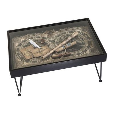 Kare Design - Table basse rectangulaire-Kare Design-Table basse Collect Maps 100x70cm