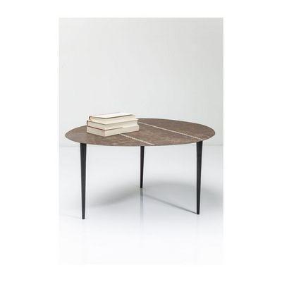 Kare Design - Table basse ronde-Kare Design-Table basse Egg cuir 65x75cm