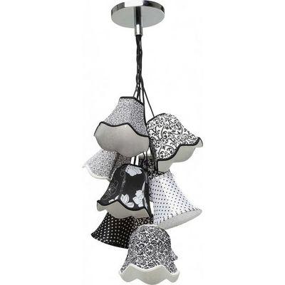 Kare Design - Suspension-Kare Design-Suspension Saloon Ornament Noir & Blanc 9
