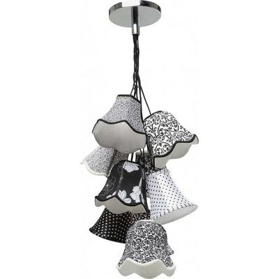 Kare Design - Suspension-Kare Design-Suspension Saloon Ornament Noir & Blanc 9