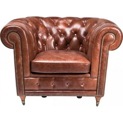 Kare Design - Fauteuil Chesterfield-Kare Design-Fauteuil Club Oxford Vintage Deluxe