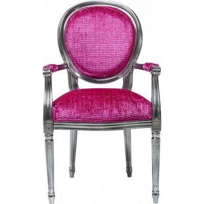 Kare Design - Fauteuil-Kare Design-Fauteuil Baroque Posh Silver rose
