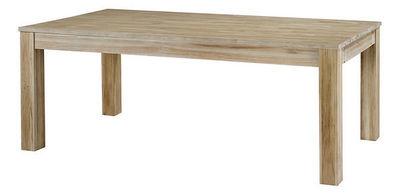 ZAGO - Table de repas rectangulaire-ZAGO-Table repas rectangulaire en teck avec allonge Ori