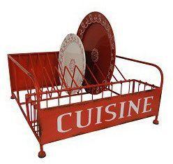 Antic Line Creations - Egouttoir-Antic Line Creations-Egouttoir à vaisselle vintage rouge