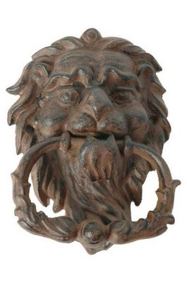 Antic Line Creations - Cloche d'extérieur-Antic Line Creations-Heurtoir lion antique en fonte