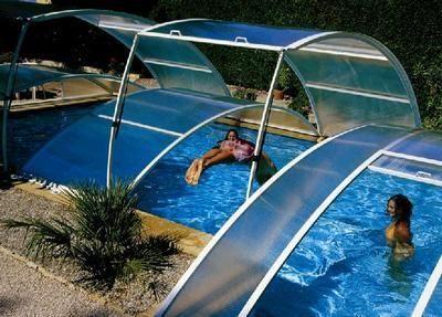 Abrideal - Abri de piscine bas amovible-Abrideal-PRIMO version Roman
