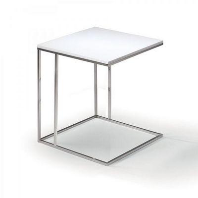 WHITE LABEL - Bout de canapé-WHITE LABEL-LAMINA bout de canapé blanc mat
