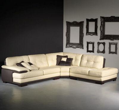 Cuir Center - Canapé d'angle-Cuir Center-CAFFE LATTE