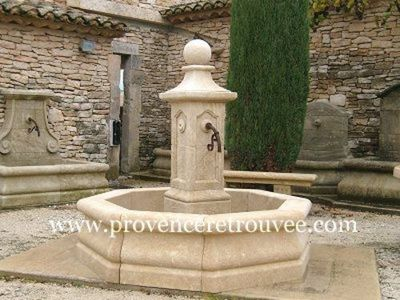 Provence Retrouvee - Fontaine centrale d'ext�rieur-Provence Retrouvee-Fontaine centrale diametre 170 cm