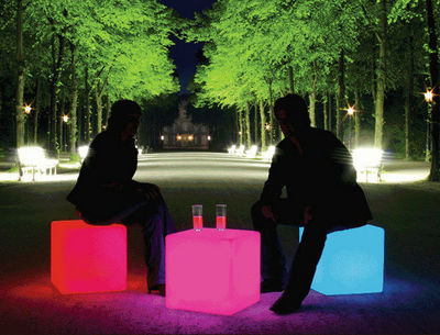 Moree - Objet lumineux-Moree-Cube LED Accu Outdoor