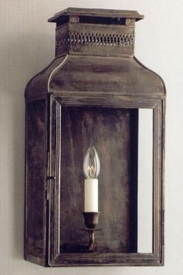 Charles Edwards - Demi lanterne murale d'extérieur-Charles Edwards-bronze noir