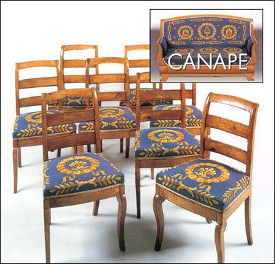 Antoine Gossart - Salon-Antoine Gossart-8 chaises et un canapé