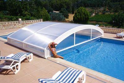Abrideal - Abri de piscine bas coulissant ou télescopique-Abrideal-MEZZO TPA