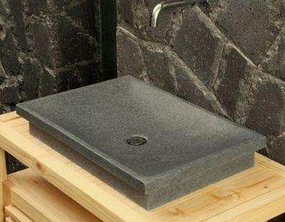 LIVING'ROC - Vasque à poser-LIVING'ROC-Vasque en pierre (granit) DUNE