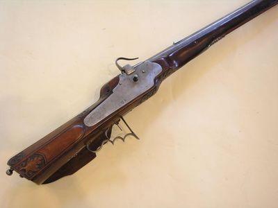 Aux Armes d'Antan - Carabine et fusil-Aux Armes d'Antan-Arquebuse à Rouet, à platine étanche, époque XVIIème siècle