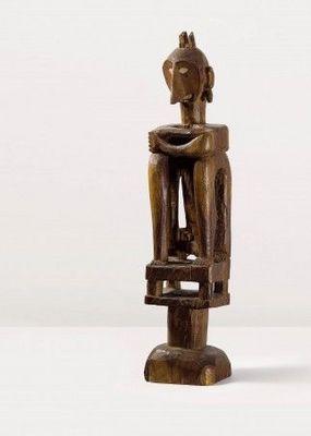 Patrick Fröhlich - Statuette-Patrick Fröhlich-Figure d?ancêtre masculin iene, Leti