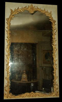 Philippe Vichot - Miroir-Philippe Vichot-Miroir de boiserie Louis XV en bois doré