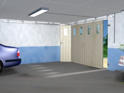 Mantion - Porte de garage coulissante-Mantion-SPORTUB - Série 300 portes à déplacement latéral