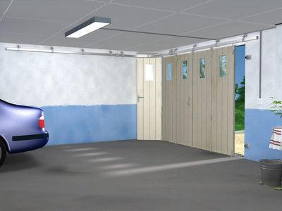 Mantion - Porte de garage coulissante-Mantion-SPORTUB - Série 300 portes à déplacement latéral