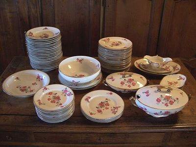 Le Grenier de Matignon - Service de table-Le Grenier de Matignon-SERVICE DE TABLE EN PORCELAINE DE LIMOGES DES ANNE