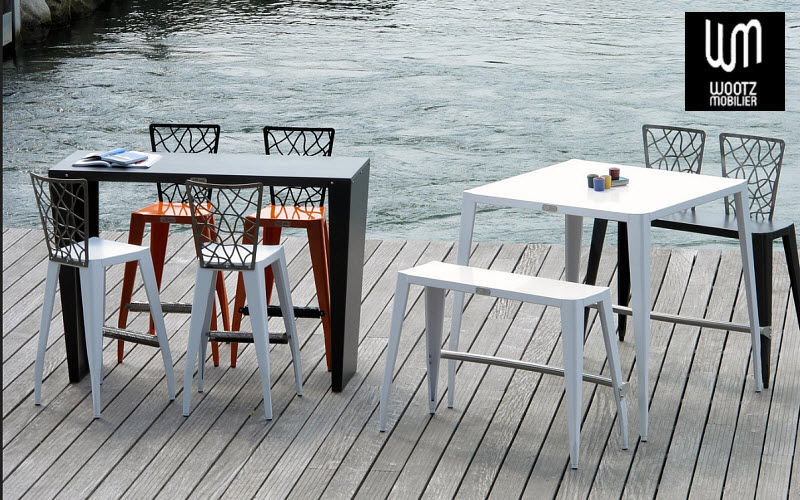 WOOTZ MOBILIER Bar table Dining tables Tables and Misc. Balcony-Terrace | Design Contemporary