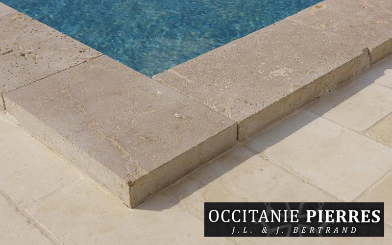Occitanie Pierres Pool border tile Kerbs and borders Swimming pools and Spa Garden-Pool | Classic