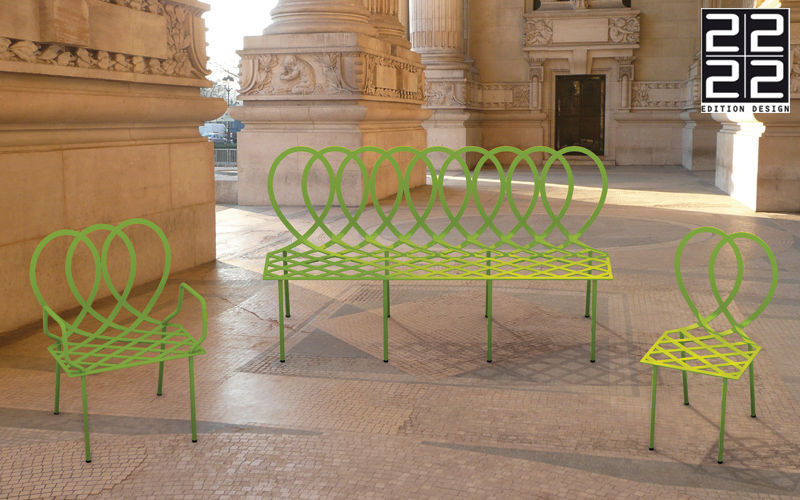 22 22 EDITION DESIGN Town bench Garden seats Garden Furniture  |