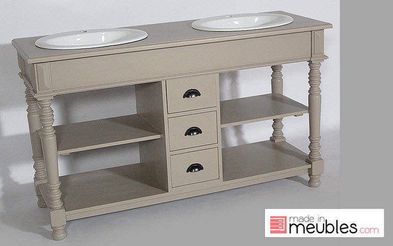 Double basin unit bathroom furniture decofinder - Meuble vasque retro ...