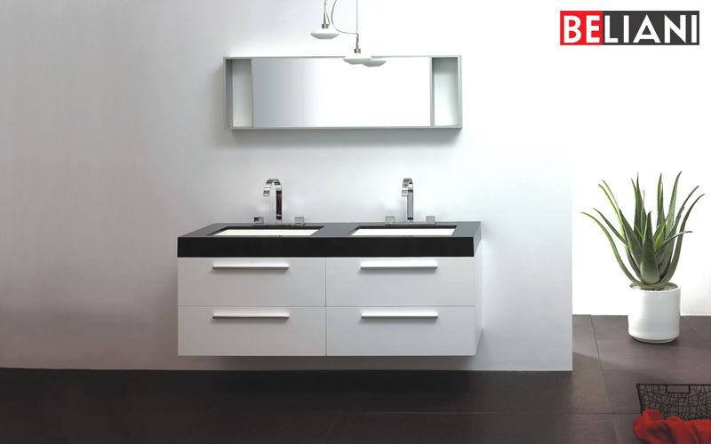 BELIANI Double basin unit Bathroom furniture Bathroom Accessories and Fixtures  |