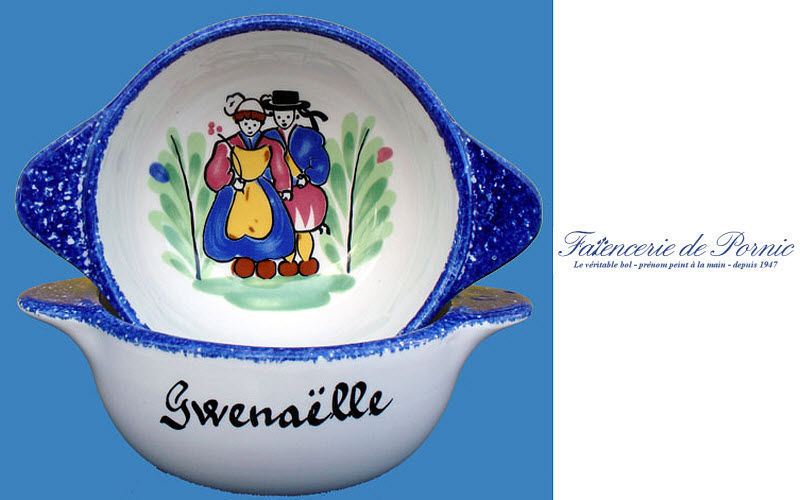 Faiencerie De Pornic First name Bowl Children's table accessories Children's corner  |