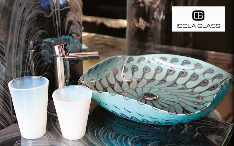 Isola Glass Freestanding basin Sinks and handbasins Bathroom Accessories and Fixtures  |