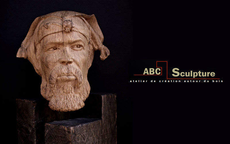 ABC SCULPTURE Human head Statuary Art  |