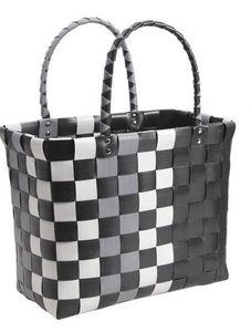 Aubry-Gaspard - sac cabas 2 anses noir - Shopping Bag