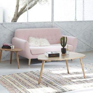 BOIS DESSUS BOIS DESSOUS - table basse en bois de mindy 100 oslo - Rectangular Coffee Table