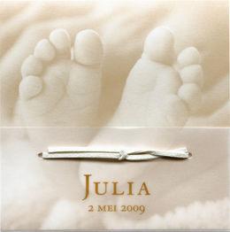 Buromac Birth announcement card